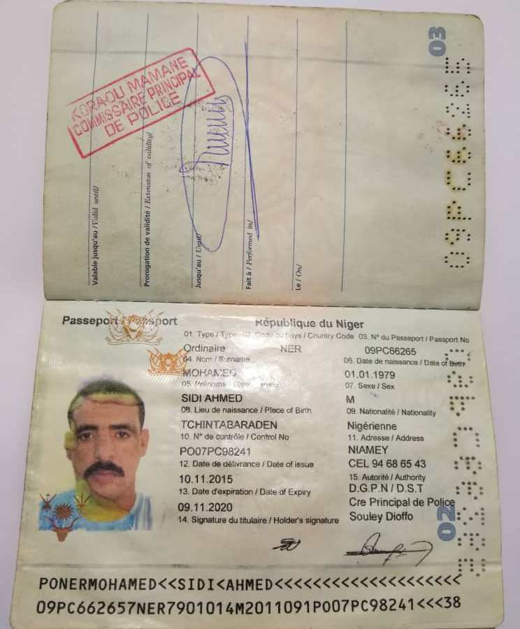 Passeport Mohamed Sidi