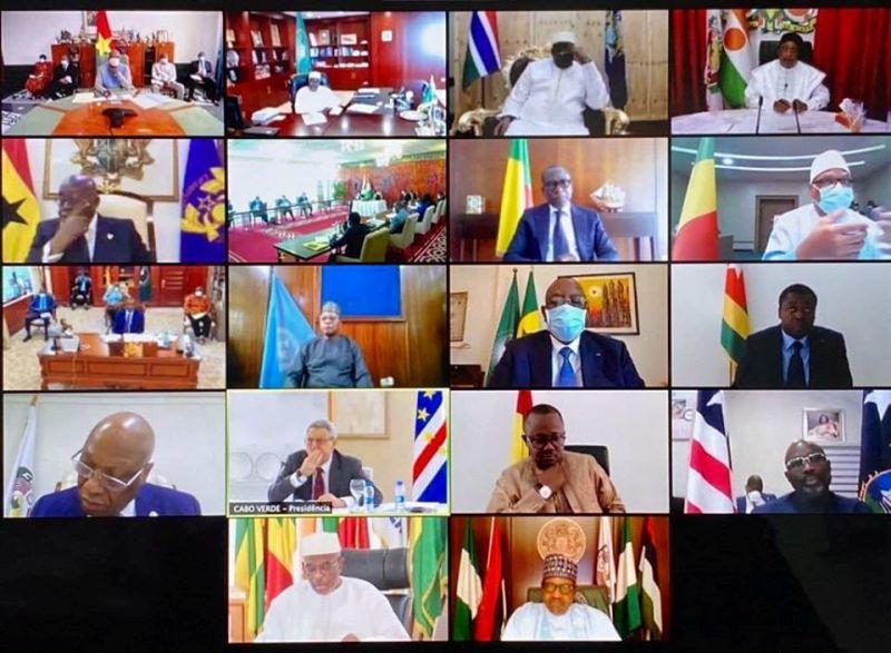 visioconférence cedeao chefs d'Etats