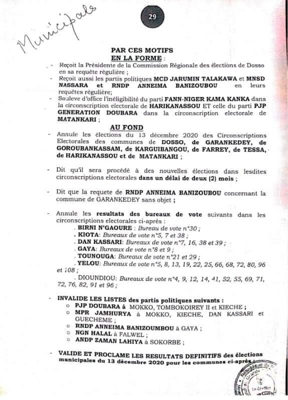 annulation municipale BIS