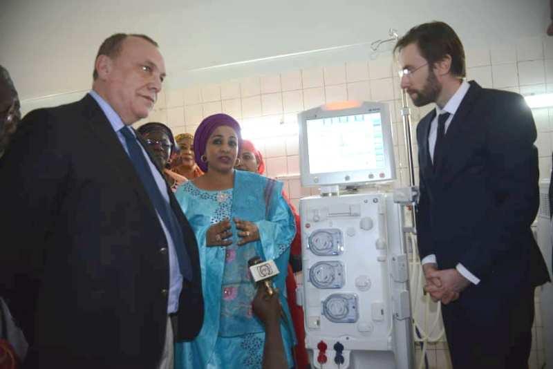 Inauguration centre hemodialyse Hopital de Lamorde BIS1